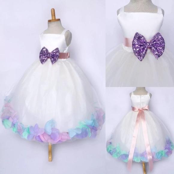 16c9761b6b276 Dresses | Pastel Unicorn Rose Petal Dress In White Tulle | Poshmark